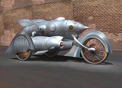 Welded Art Digital Art - Steam Turbine Cycle by Stuart Swartz