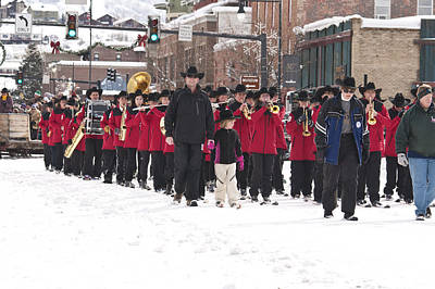 Marching Band Photograph - Steamboat Ski Marching Band by Daniel Hebard