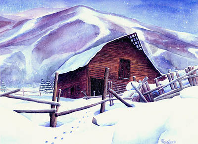 Snowboarding Painting - Steamboat Winter by Mary Giacomini