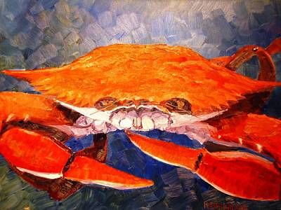 Painting - Steamed Crab by Keith Wilkie