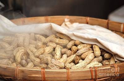 Bamboo Photograph - Steamed Peanuts by Yali Shi