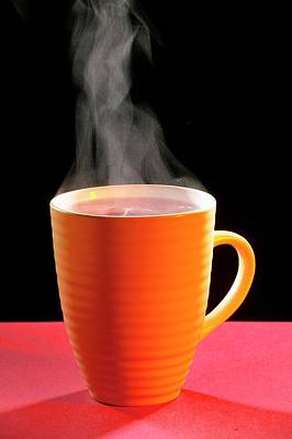 Steaming Photograph - Steaming Hot Drink by Mark Sykes