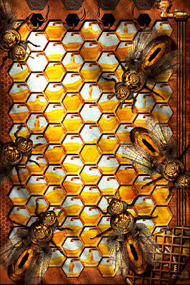 Cyberpunk Photograph - Steampunk - Apiary - The Hive by Mike Savad