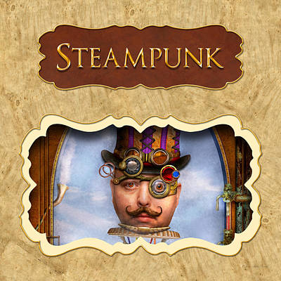 Room Photograph - Steampunk Button by Mike Savad