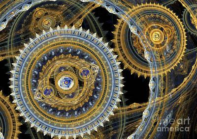 Suburban Digital Art - Steampunk Machine by Martin Capek
