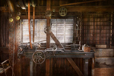 Steampunk - Machinist - My Tinkering Workshop  Print by Mike Savad