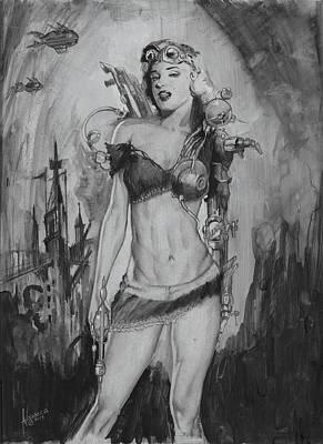 Steampunk Monroe Original by Luis  Navarro