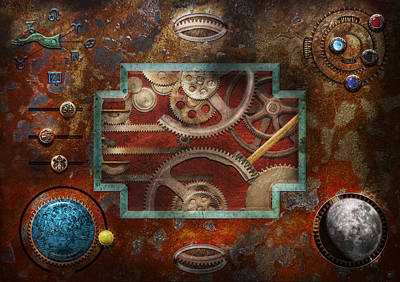 Steampunk - Pandora's Box Print by Mike Savad