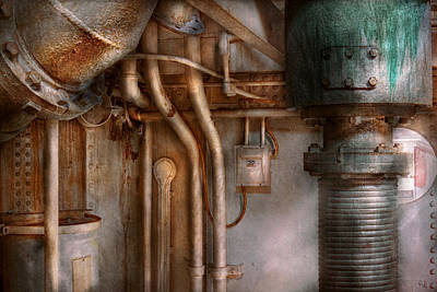 Steampunk - Plumbing - Industrial Abstract  Print by Mike Savad