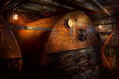 Boiler Photograph - Steampunk - Plumbing - The Home Of A Stoker  by Mike Savad