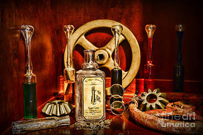 Steampunk - Spare Gears - Mechanical Print by Paul Ward