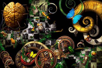 Steampunk - Surreal - Mind Games Print by Mike Savad