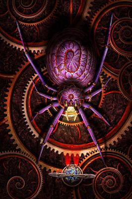 Digital Art - Steampunk - The Webs We Weave by Mike Savad