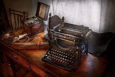 Photograph - Steampunk - Typewriter - The Secret Messenger  by Mike Savad