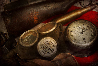 Photograph - Steampunk - War - Remembering The War by Mike Savad