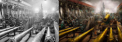 Tool Maker Photograph - Steampunk - War - We Are Ready - Side By Side by Mike Savad
