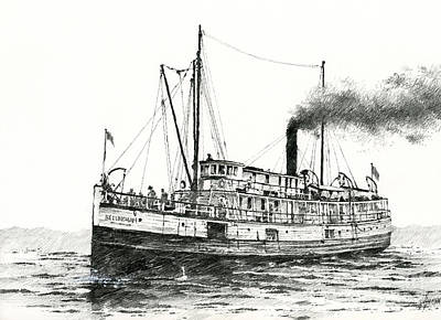Steamship Bellingham Print by James Williamson