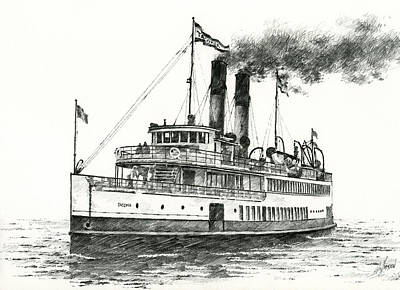 Steamship Tacoma Print by James Williamson