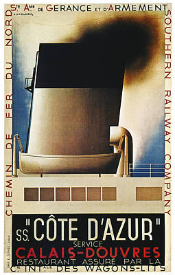 Steamship Travel Poster Print by Granger