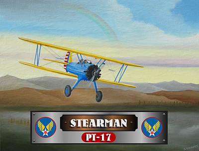 Stearman Pt-17 Print by Stuart Swartz