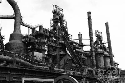 Steel Mill In Black And White Print by Paul Ward