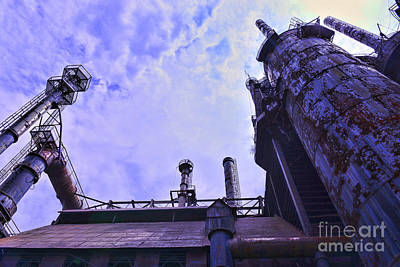 Steel Stacks Perspective Print by Paul Ward