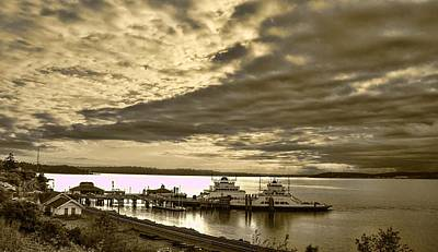 Steilacoom Ferry At Steilacoom Wa Print by Ron Roberts