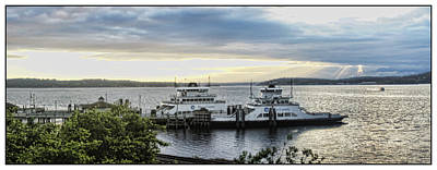 Steilacoom Ferry Print by Ron Roberts