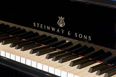 Steinway Keyboard Print by Rich Franco