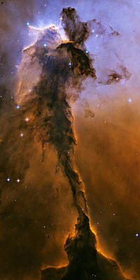 Ic Images Photograph - Stellar Spire In The Eagle Nebula by Nasa