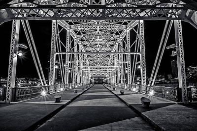 Downtown Nashville Photograph - Step Under The Steel by CJ Schmit