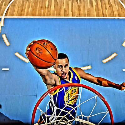 Nba Painting - Steph Curry by Florian Rodarte
