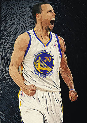 Stephen Curry Print by Taylan Soyturk
