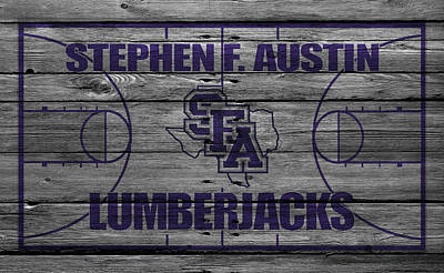 Stephen F Austin Lumberjacks Print by Joe Hamilton