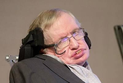 Stephen Hawking Print by Mark Thomas