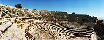 Roman Ruins Photograph - Steps Of The Theatre In The Ruins by Panoramic Images