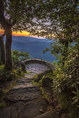 Ledge Photograph - Steps To A View by Andrew Soundarajan