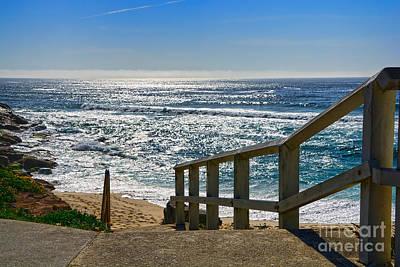 Steps To Glowing Ocean By Kaye Menner Original by Kaye Menner
