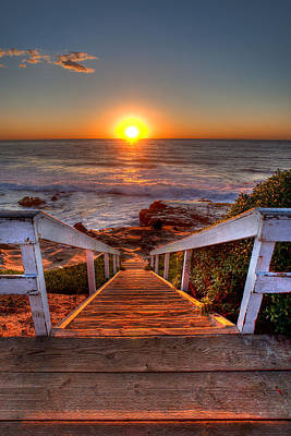 Beach Art Photograph - Steps To The Sun  by Peter Tellone