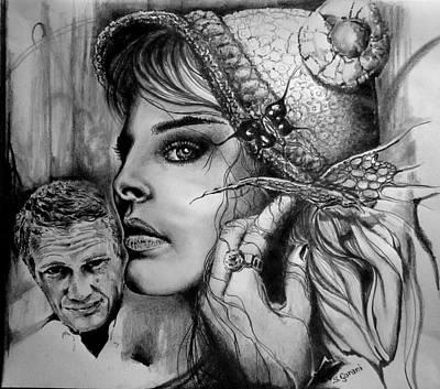 Surrealism Drawing - Steve by Geni Gorani
