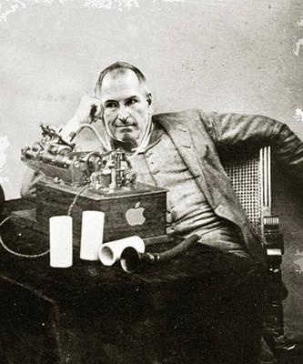 Steve Jobs As Edison Print by Tony Rubino