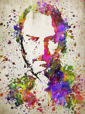 Steve Jobs In Color Print by Aged Pixel