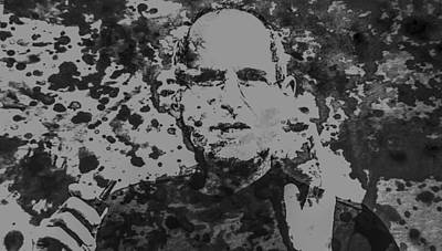 Steve Jobs Paint Splatter 3b Print by Brian Reaves