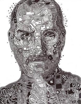 Ipad Drawing - Steve Jobs by Serafin Ureno