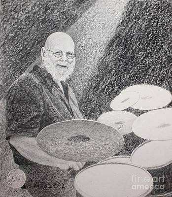 Mardi Drawing - Steve Lund by Gordon J Weber