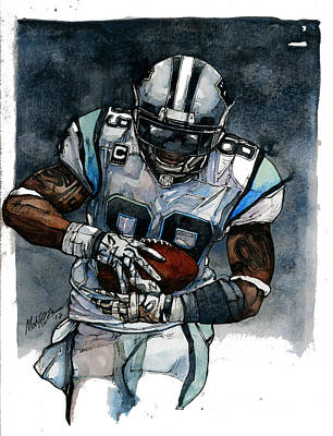 Steve Smith Print by Michael  Pattison