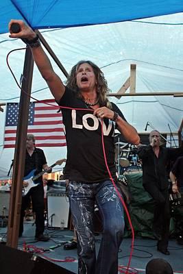 Aerosmith Photograph - Steve Tyler Jump by Patricia Abbate