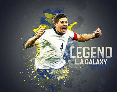 Landon Donovan Digital Art - Steven Gerrard by Taylan Soyturk
