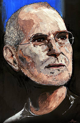 Visionary Art Painting - Steven Paul Jobs by Gordon Dean II