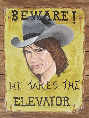 Steven Tyler As A Cowboy Original by Jeepee Aero